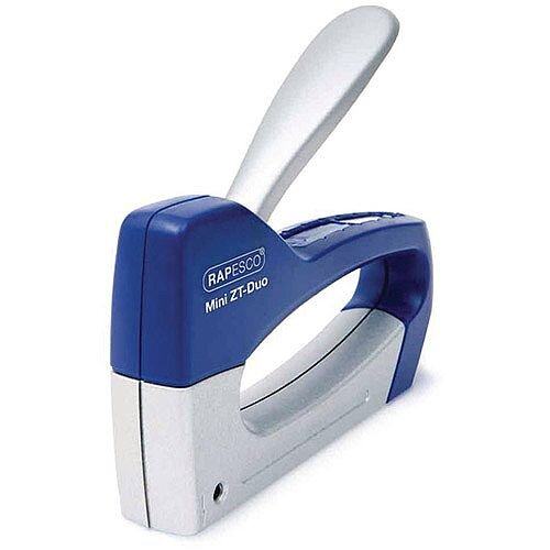 Rapesco Tacker Mini Z T-Duo Blue/Silver Pack of 1 0954