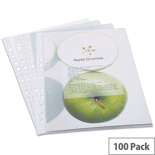 Rapesco Eco Punched Pockets A4 Clear 60 Micrones Pack of 100