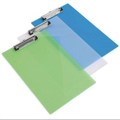 Rapesco Assorted Transparent Clipboards Pack of 10