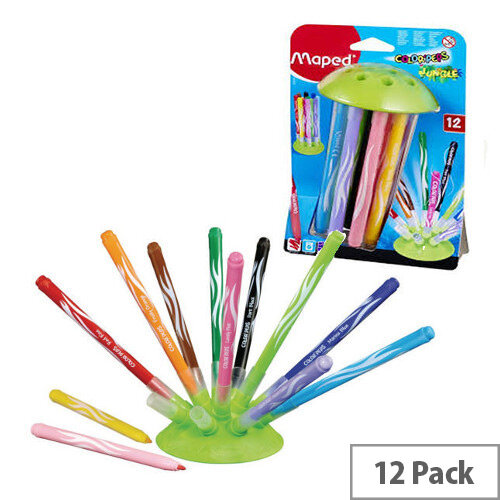 Maped Color'Peps Jungle Innovation Colouring Pens Assorted Pack of 12
