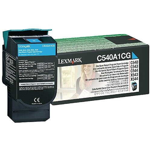 Lexmark C540A1CG Cyan Return Programme Toner Cartridge