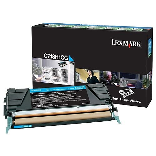 Lexmark C748 Return Programme Toner Cartridge High Yield Cyan C748H1CG