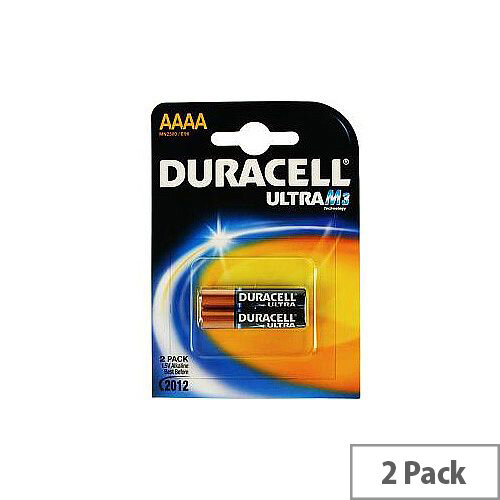Duracell ULTRA MX2500 Camcorder Battery AAAA Alkaline Manganese Dioxide 1.5 V DC 2 Pack