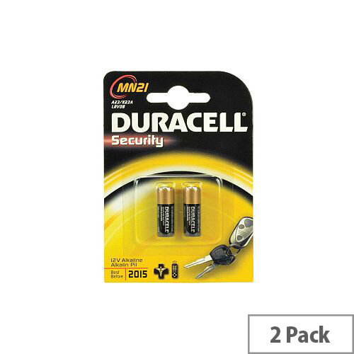 Duracell MN21 Security Device Battery 33 mAh Alkaline Manganese Dioxide 12 V DC 2 Pack