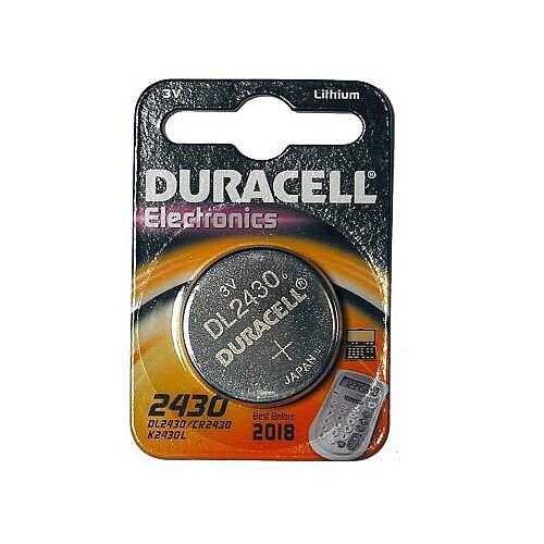 Duracell DL2430 Multipurpose Battery 285 mAh Lithium Manganese Dioxide (Li-MnO2) 3 V DC