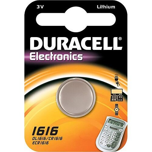Duracell DL1616 Multipurpose Battery 55 mAh Lithium Manganese Dioxide (Li-MnO2) 3 V DC