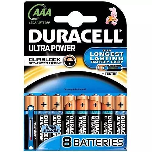 Duracell Ultra Power Multipurpose Battery AAA Alkaline 1.5 V DC 8 Pack