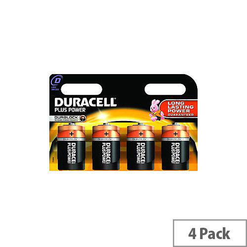 Duracell MN1300B4 Multipurpose Battery D Alkaline 1.5 V DC 4 Pack