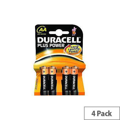 Duracell Multipurpose Battery AA Alkaline 4 Pack