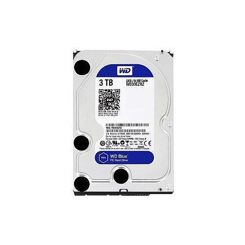 WD Blue WD30EZRZ 3 TB 3.5in Internal Hard Drive SATA 5400rpm 64 MB Buffer Blue