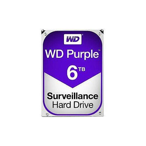 WD Purple WD60PURZ 6 TB 3.5in Internal Hard Drive SATA 5400rpm 64 MB Buffer
