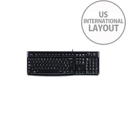 Logitech K120 Keyboard Cable Connectivity USB Interface English US International
