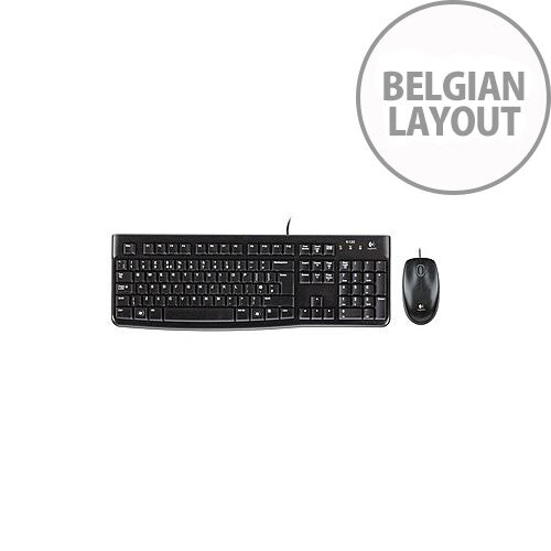 Logitech MK120 Keyboard &Mouse USB Cable Keyboard Belgian USB Cable Mouse Optical Symmetrical
