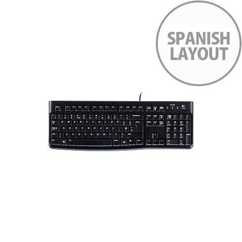Logitech K120 Keyboard Cable Connectivity USB Interface Spanish