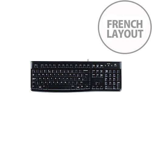 Logitech K120 Keyboard Cable Connectivity USB Interface French