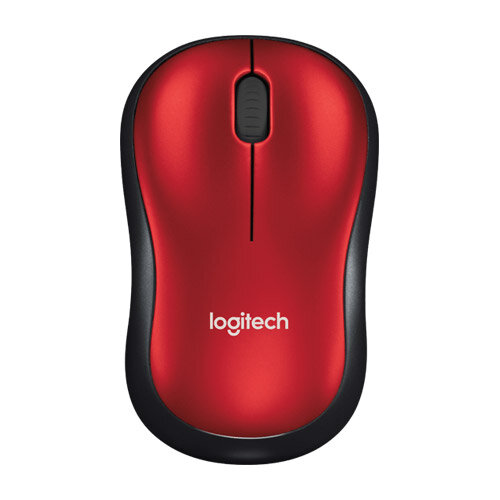 Wireless Mouse M185 RED USB CORDLESS