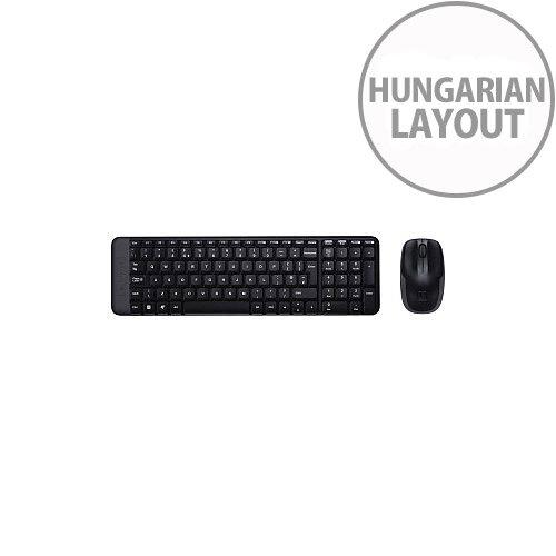 Logitech MK220 Keyboard &Mouse USB Wireless RF Keyboard Hungarian USB Wireless RF Mouse Optical 3 Button Scroll Wheel PC