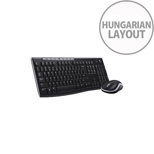 Logitech Wireless Combo MK270 Keyboard &Mouse USB Wireless RF Keyboard Hungarian Black USB Wireless RF Mouse Scroll Wheel Black PC