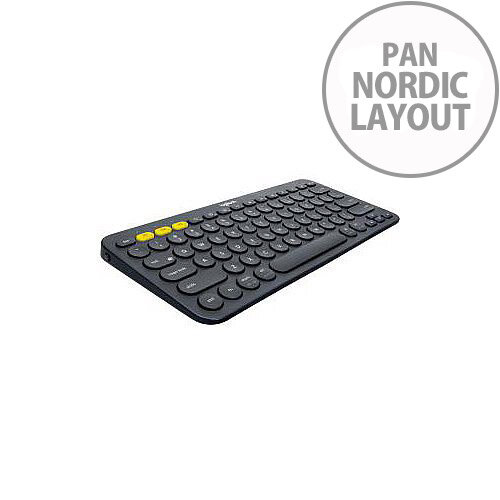 K380 KEYBOARD DARK GREY MULTI-DEVICEBLUETOOTH PANNORDIC NX