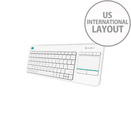 Wireless Touch Keyboard K400Plus WHITE US INTERNATIONAL