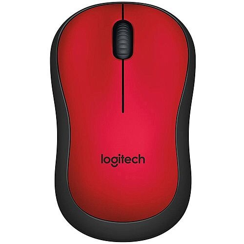 Logitech M220 Mouse Optical Wireless Red Retail Radio Frequency USB
