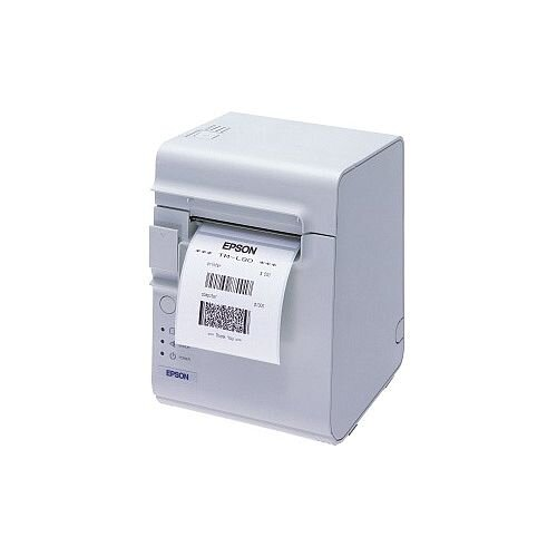 Epson TM-L90 Direct Thermal Printer Monochrome Desktop Label Print 72mm 2.83in Print Width 150 mm/s Mono 203 x 203 dpi 14 KB USB Serial 79.50mm Label Width