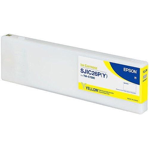 Epson SJIC26P Y Yellow Original Ink Cartridge C33S020621