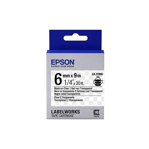 Epson Label Tape 6mm Width x 9m Length Transparent C53S652004