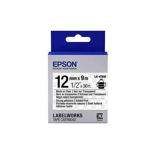 Epson Label Tape 12mm Width x 9m Length Transparent C53S654015