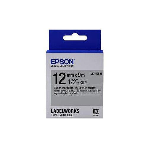 Epson Label Tape 12mm Width x 9m Length Silver C53S654019