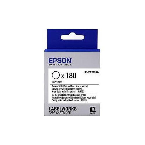 Epson Label Tape 6mm Width x 9m Length White C53S658901