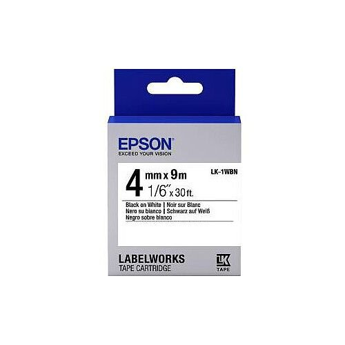 Epson Label Tape 6mm Width x 9m Length White C53S651001