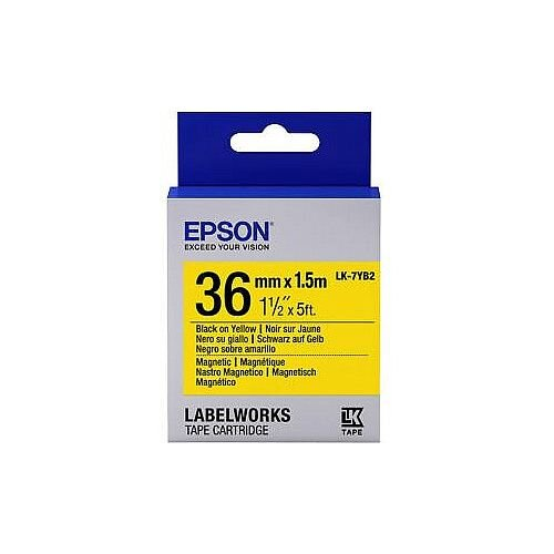 Epson LK-7YB2 Label Tape 36mm Width x 1500mm Length Rectangle Yellow C53S657008