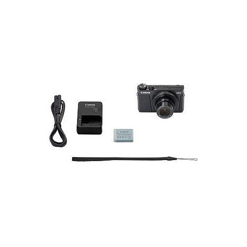 Canon PowerShot G9 X Mark II 20.1 Megapixel Compact Camera Black 7.6 cm 3in Touchscreen LCD 16:9 3x Optical Zoom 4x Optical IS TTL 5472 x 3648 Image 1920 x 1080 Video HDMI HD Movie Mode Wireless LAN