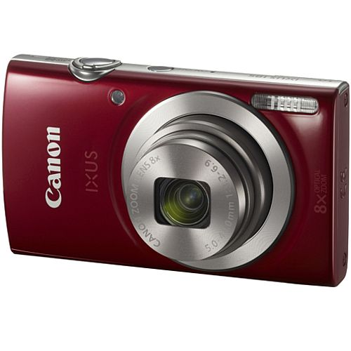 Canon IXUS 185 20 Megapixel Compact Camera Red 2.7in LCD 16:9 8x Optical Zoom 4x Digital HD Movie Mode