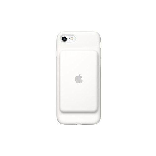 Apple Smart Battery Case for iPhone 7 White Silicone MicroFiber
