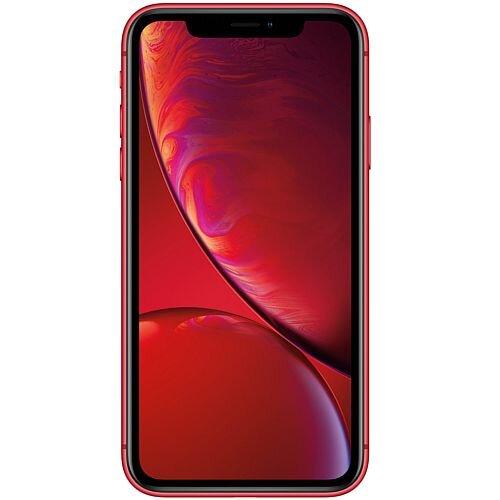 "Apple iPhone Xr Smartphone Red, Dual-SIM Nano, 4G LTE Advanced, 128 GB Storage, 1 Day Talk Time Battery, 6.1"" Display (1792x828) Camera 12 MP (7 MP Front), Bluetooth 5"