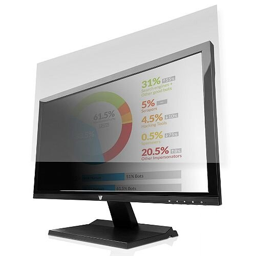 """V7 Privacy Screen Filter - For 605 mm (23.8"""") LCD Widescreen Monitor, Notebook PS23.8W9A2-2E"""