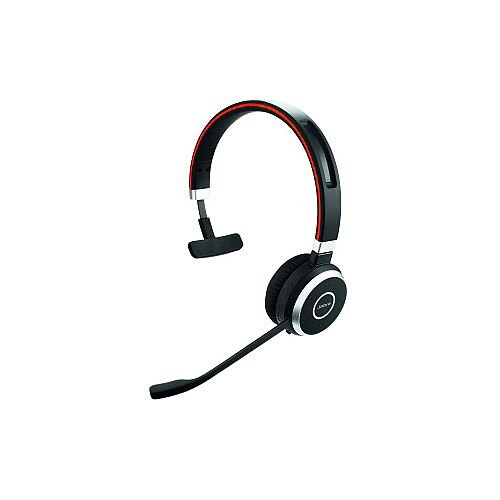 Jabra EVOLVE 65 Wireless Bluetooth Mono Headset Over-the-head Supra-aural