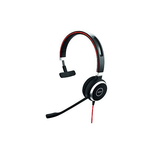 Jabra EVOLVE 40 Wired Mono Headset Over-the-head Supra-aural USB Mini-phone
