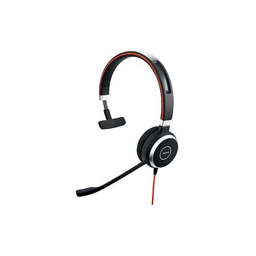 Jabra EVOLVE 40 Wired Mono Headset Over-the-head Circumaural Mini-phone