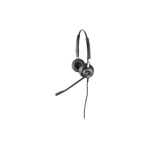 Jabra BIZ 2400 II QD Wired Stereo Headset Over-the-head Supra-aural Gold Plated Quick Disconnect Yes