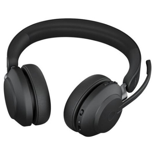 Jabra Evolve2 65 Wireless Over-the-head Stereo Headset - Black - Supra-aural - Bluetooth - Noise Cancelling Microphone