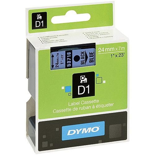 Dymo Label Tape Removable Adhesive 24 mm Width x 7 m Length Rectangle Thermal Transfer Blue 1 per Box