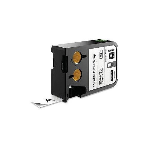 Dymo Label Tape 19 mm Width x 5.50 m Length Black on White