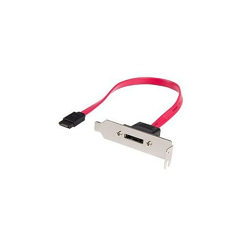 StarTech 1ft Low Profile SATA to eSATA Plate Adapter 1 x eSATA 1 x Male SATA