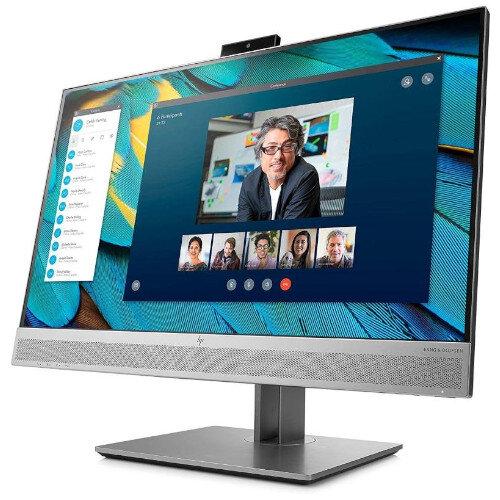 "HP Business Computer Monitor E243m - (23.8"") Full HD WLED LCD - 16:9 - 1920 x 1080 - 250 cd/m² - 5 ms - Webcam - HDMI, VGA, DisplayPort -  Black, Silver"