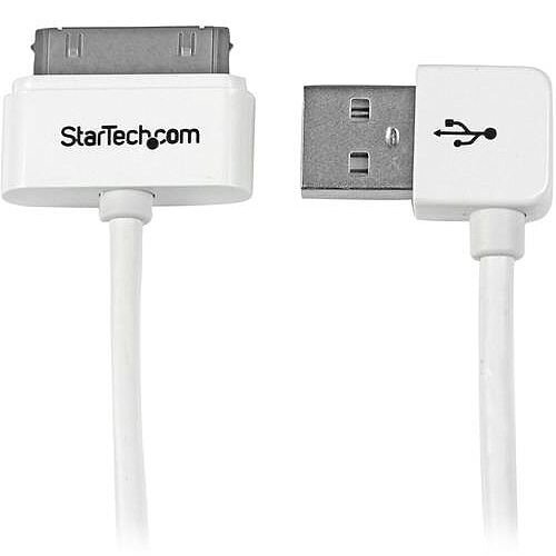 StarTech Apple 30-pin Dock Connector to Right Angle USB Cable for iPhone / iPod / iPad 1m (3 ft.)