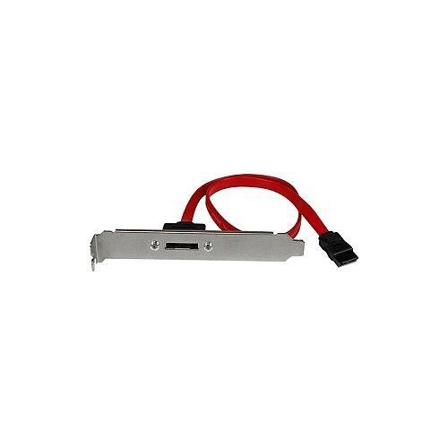 StarTech 18in 1 Port SATA to eSATA Plate Adapter 1 x SATA 1 x eSATA Red
