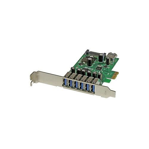 StarTech 7-Port PCI Express USB 3.0 card Standard and Low-Profile Design 7 Total USB Ports 7 USB 3.0 Ports PC Linux